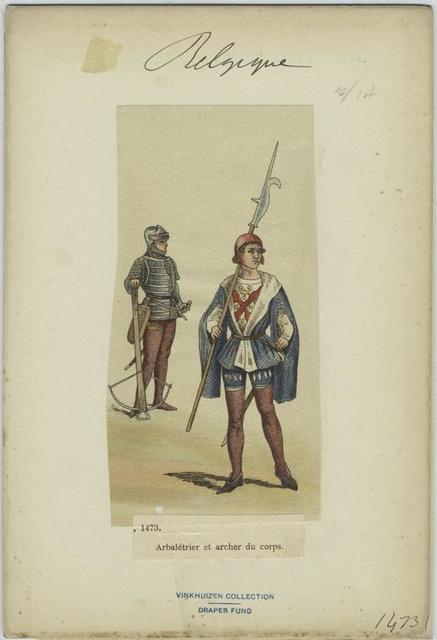 Arbalétrier et archer du corps.