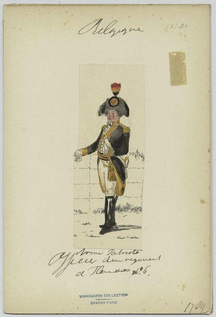 Armée patriote; officicier du régiment a Flandres nº 6