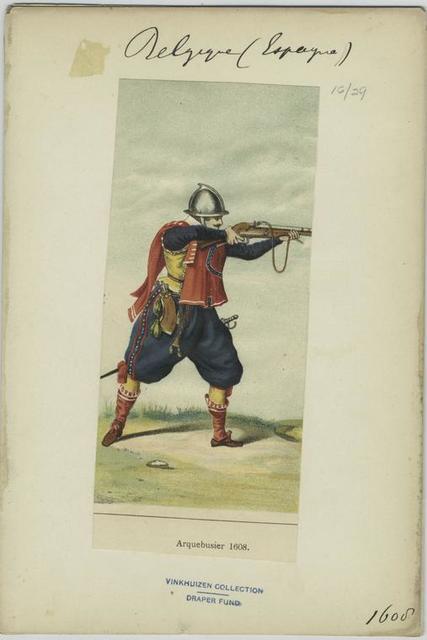 Arquebusier, 1608
