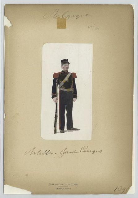 Artillerie. Garde Civique. 1898