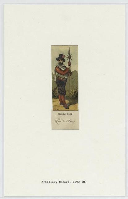 Artillerie, Geleiter, 1592 = Artillery escort, 1592