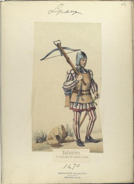 Ballestero, de mesnada de cibdad ó villa ([Año] 1470).