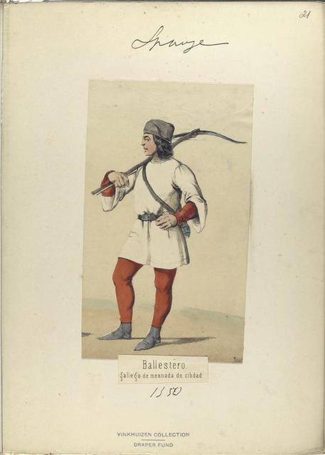 Ballestero, gallego de mesnada de cibdad  ([Año] 1350).