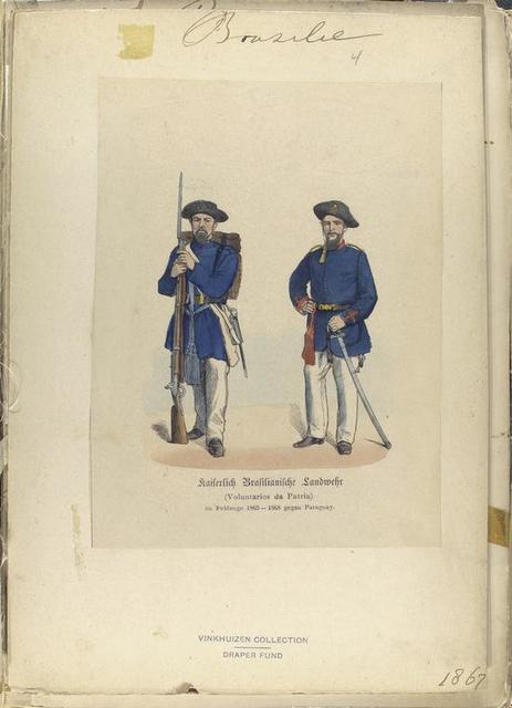 Barsilie: Kaiserlich Brasilianishce Landmehr (Voluntarios da patria) im Feldzuge 1865-1868 gegen Paraguay.