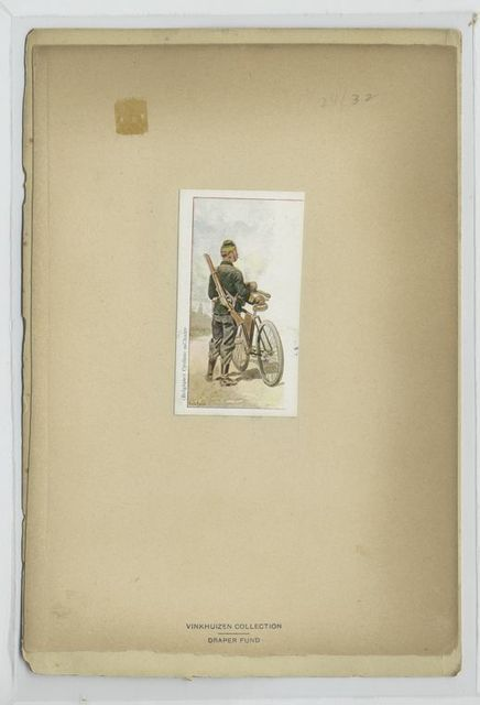 Belgique) Cycliste militaire.