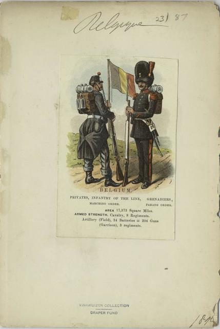 Belgium, privates, infantry of the line, marching order, grenadiers, parade order