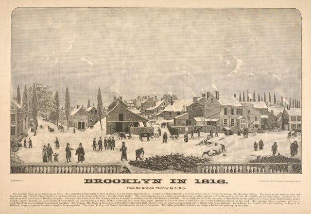 Brooklyn in 1816. The principal street in the foreground in Front. . . [5 more lines of description]