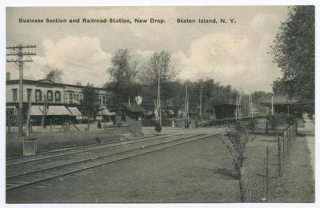Business Section and Railroad Station, New Dorp, Staten Island, N.Y.