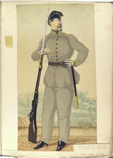 Caçador a pé, uniforme pequeno de veraõ