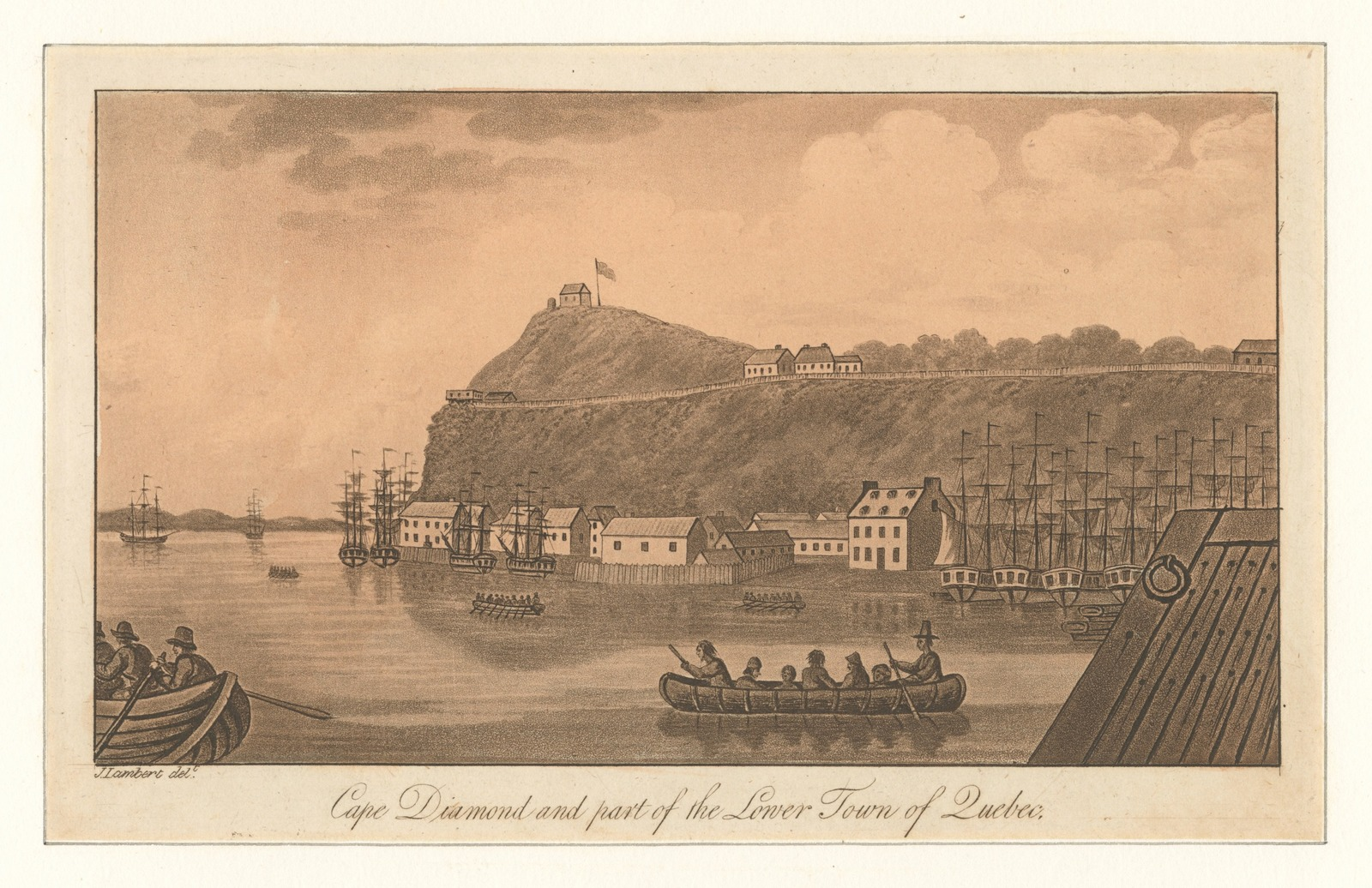 Cape Diamond and part of the lower town of Quebec