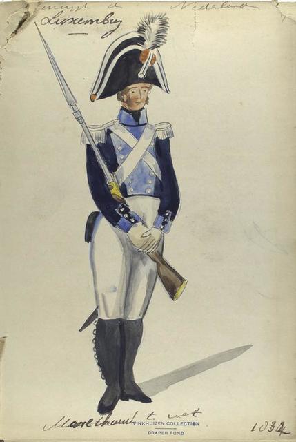 Censijpt [?] der Nederlanden, Luxembourg, marechaussee te voet, 1834