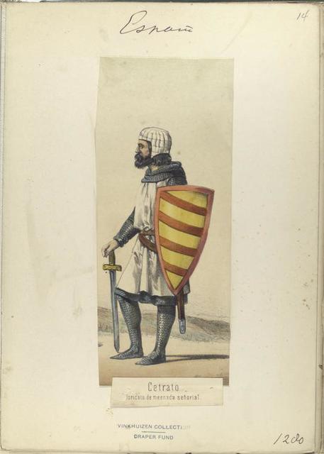 Cetrato, loricato de mesnada señorial. 1280