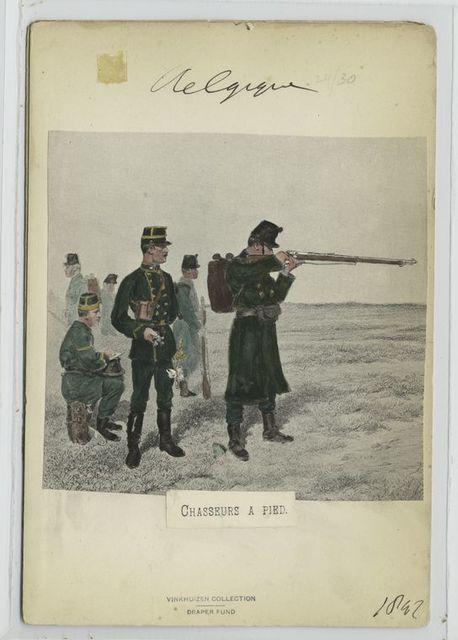 Chasseurs à pied. 1897