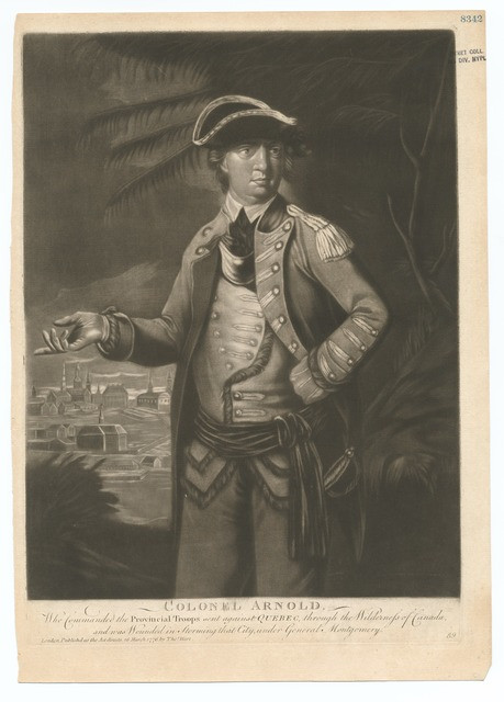 Colonel Arnold who commanded the provincial troops sent against Quebec