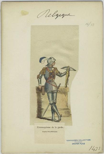 Crennequinier de la garde. D'après Philippoteaux.