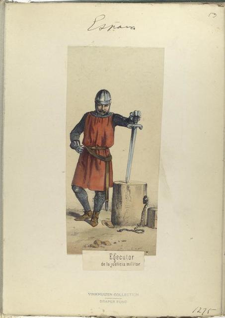 Egecutor de la justicia militar. 1275