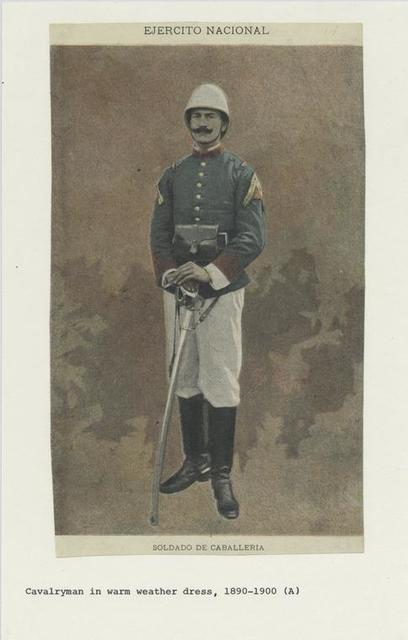 Ejercito nacional : Soldado de caballeria