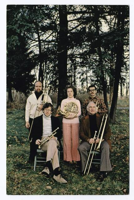 Forest Fanfare Summer Concert Series [musicians posed with wind instruments]