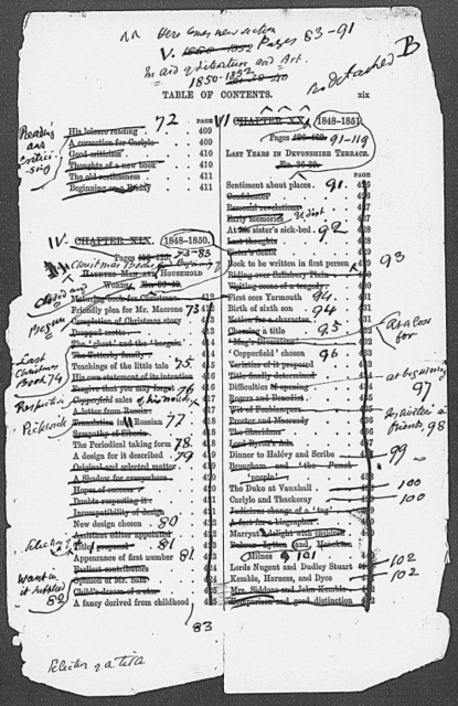 Forster, J. The life of Charles Dickens. Holograph notes, some page proofs with the author's ms. additions and three loose signatures from the printed work
