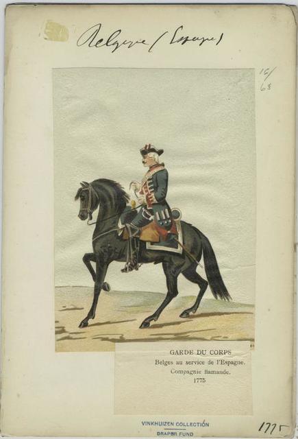 Garde du corps. Belges au service de l'Espagne. Compagnie flamande. 1775