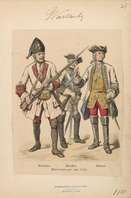 Germany. Wurtemberg. 1625-1735