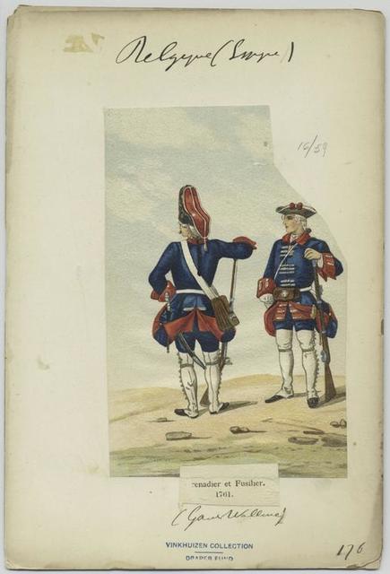Gernadier et fusilier, 1761