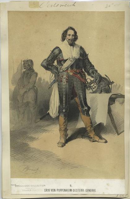 Graf von Pappenheim Oesterr:  General. 1640