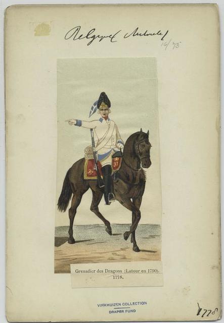 Grenadier des dragons (Latour en 1790). 1778.