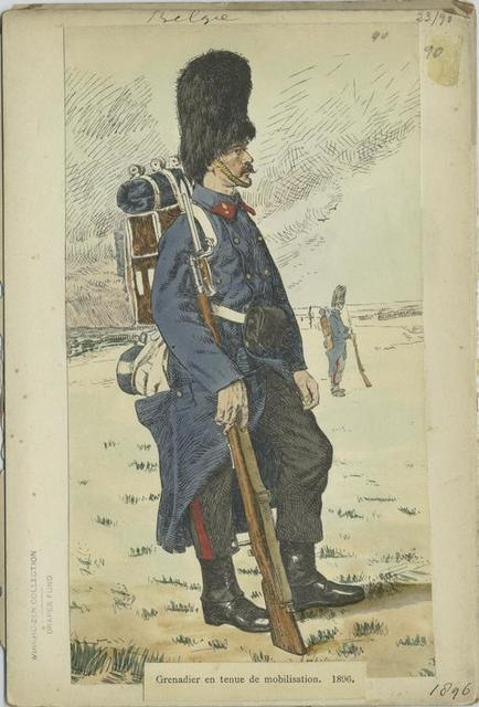 Grenadier en tenue de mobilisation 1896