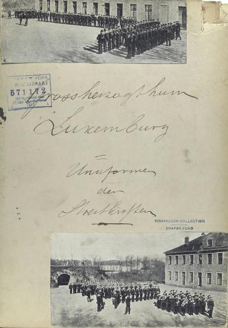 Grossherzogthum Luxemburg : Uniformen der Strestruppen [?]