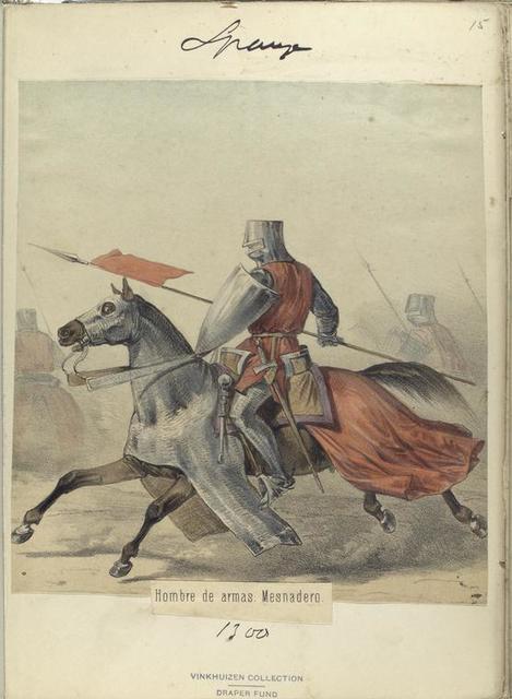 Hombre de armas. Mesnadero.  ([Año] 1300)