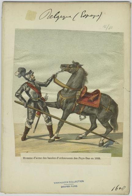 Homme d'arme des bandes d'ordonnance des Pays-Bas en 1608.