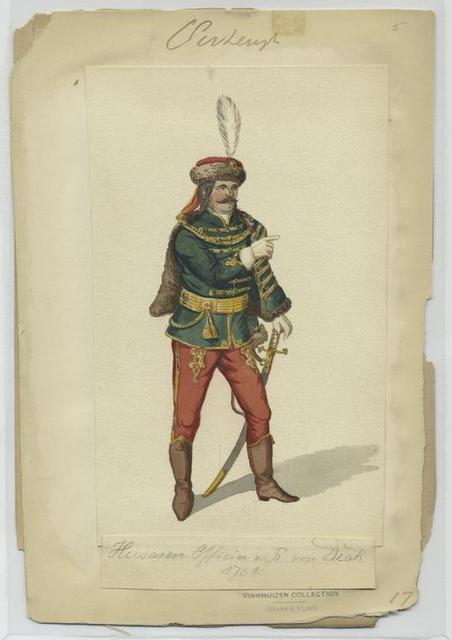Husaren Officier v. R[egiment] von Deák, 1701