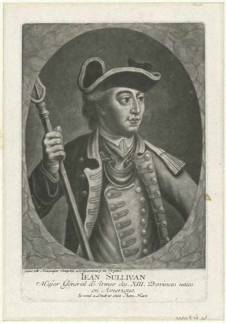 Iean Sullivan, major général d'armée des XIII provinces uniés en Amerique.