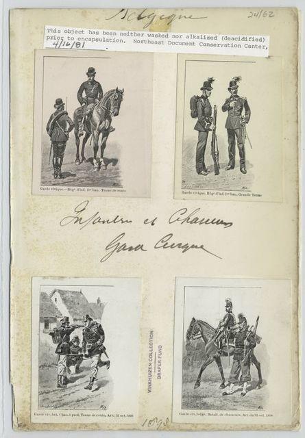 Infanterie et chasseurs. Garde Civique. 1898