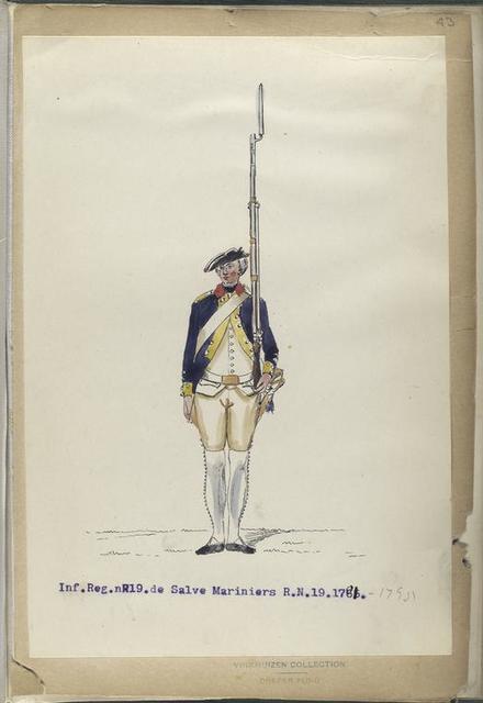 Infanterie Reg.  No. 19  de Salve Mariniers  R. N. 19.  1781-1795