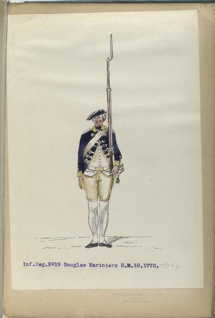 Infanterie Reg. No. 19  Douglas Mariniers. R. N. 19. 1773-1795
