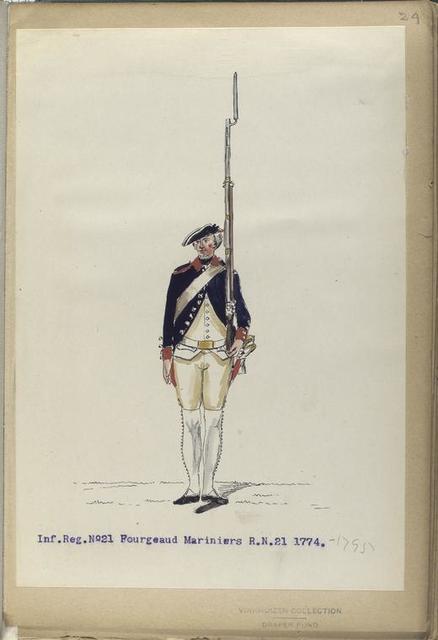 Infanterie Reg. No. 21 Fourgeaud Mariniers  R. N. 21. 1774-1795