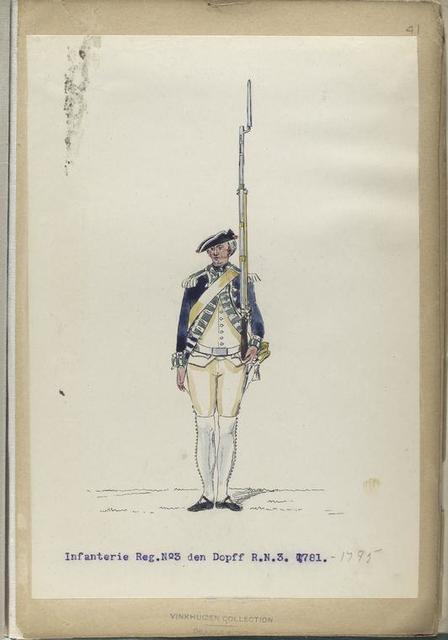 Infanterie Reg.  No. 3 den Dopff   R. N. 3.  1781-1795