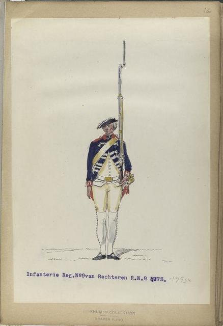 Infanterie Reg. No. 9 van Rechteren.  1773-1795