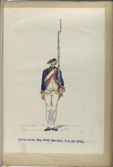 Infanterie Reg. No.15  Hertell  R. N. 15.  1771-1795