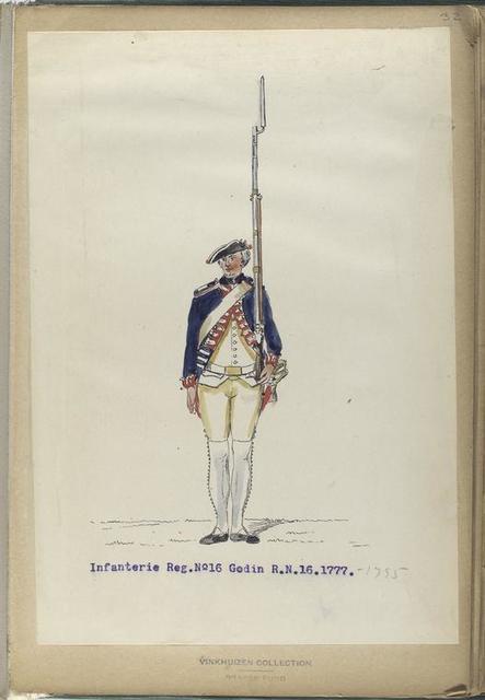 Infanterie Reg.  No.16  Godin  R. N. 16.   1777-1795