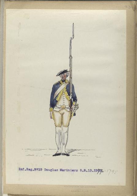 Infanterie Reg.  No.19 Douglas Mariniers   R. N. 19.   1777-1795