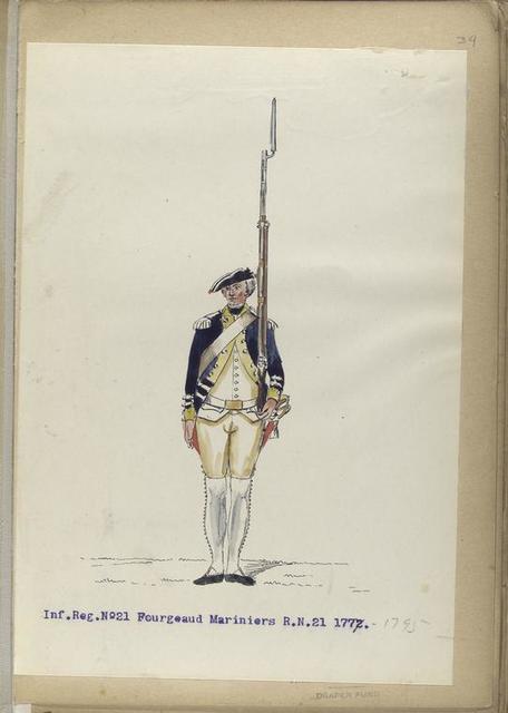 Infanterie Reg.  No.21 Fourgeaud Mariniers   R. N. 21.   1777-1795