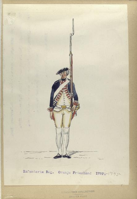 Infanterie Reg. Oranje Friesland. 1752-1795