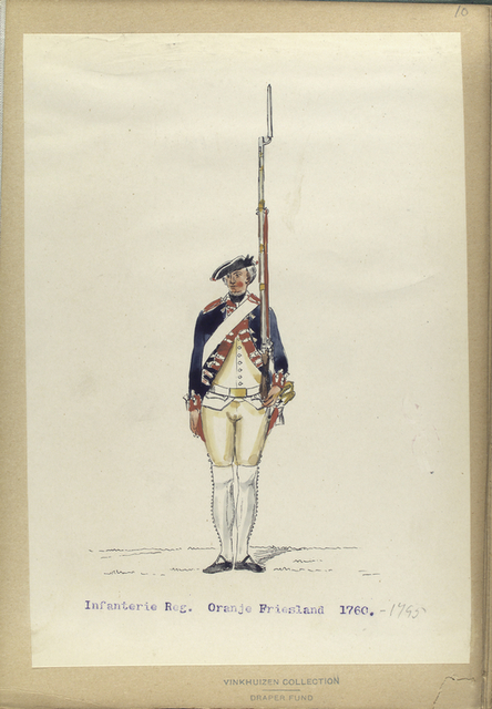 Infanterie Reg. Oranje Friesland. 1760- 1795