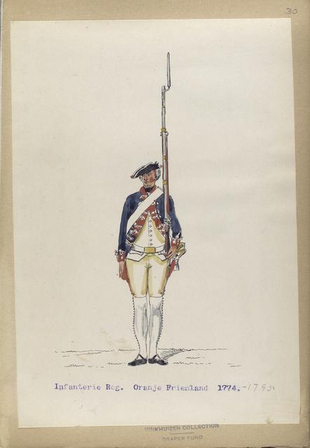 Infanterie Reg. Oranje Friesland. 1774-1795
