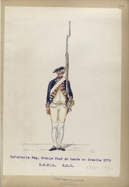 Infanterie Reg. Oranje Stad en Lande en Drenthe  R.O.St.L.  R.O.D.  1779-1795