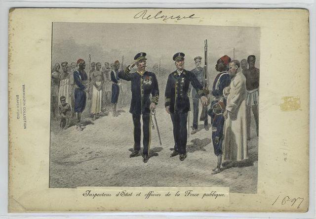 Inspecteur d'Etat et officier de la Force publique. 1897