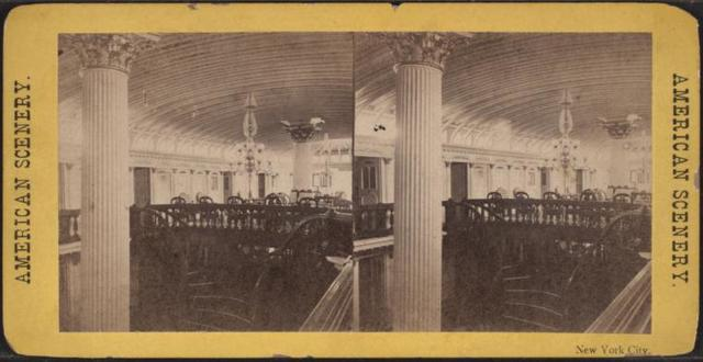 [Interior view of a steamship.]